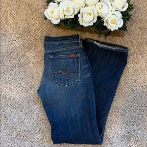 7 for All Man Kind boot cut jeans 28